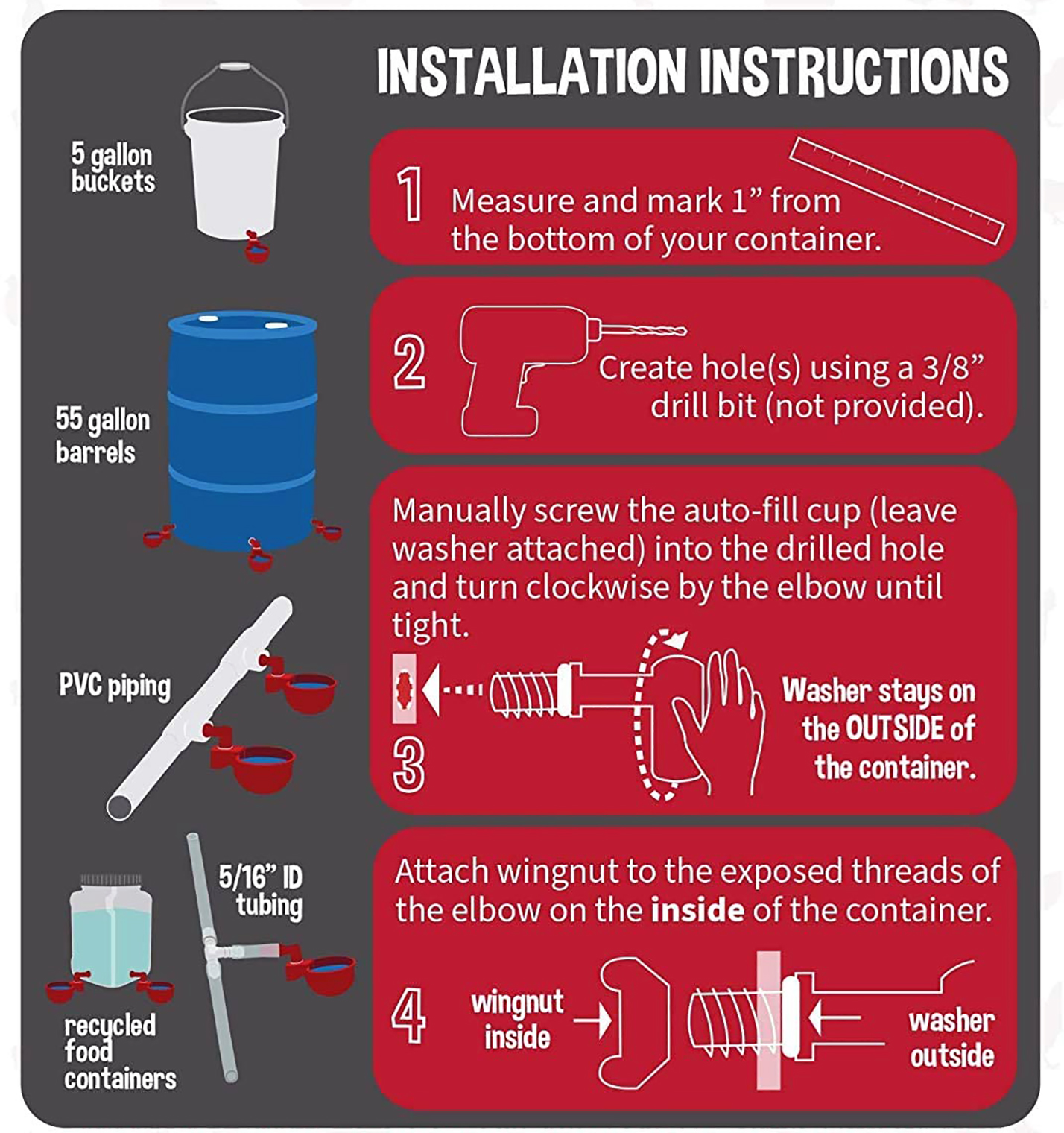 pvc water cup instructions